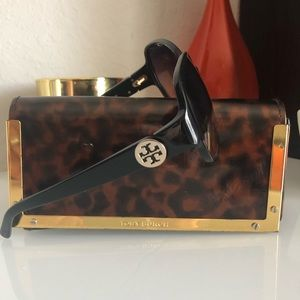 Tory Burch sunglasses and case. Authentic